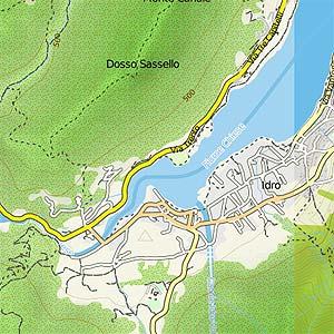 Karte von Idro am gleichnamigen See